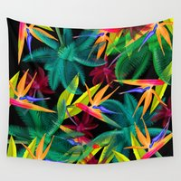 palm trees Wall Tapestries featuring Palm Trees by mark ashkenazi