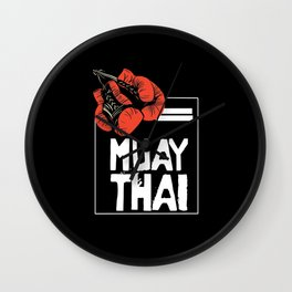 When Muay Thai Is Your Life Wall Clock