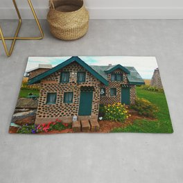 Green Gabled Bottle House Rug