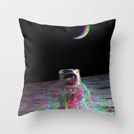 COLORFUL MOONS Throw Pillow