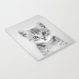 Kitten - Black & White Notebook
