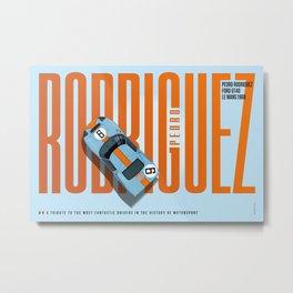 Pedro Rodriguez Tribute Metal Print