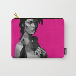 Black Magenta Carry-All Pouch