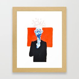 my head hurts Framed Art Print