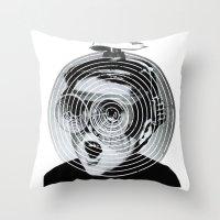 gamer Throw Pillows featuring anti gamer by KrisLeov