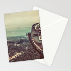 Scenic Mountains - Lookout Binoculars at Pikes Peak Denver Colorado Stationery Cards