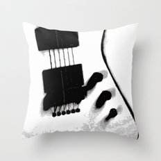 Guitar Iceman Throw Pillow