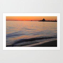 St Kilda Sunset Sea Art Print