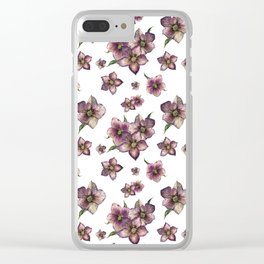Hellebore flower or Christmas rose Clear iPhone Case