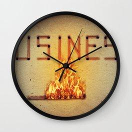fired business Wall Clock