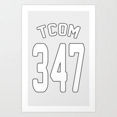TCOM 347 AREA CODE JERSEY Art Print