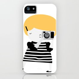 The blonde photographer iPhone Case