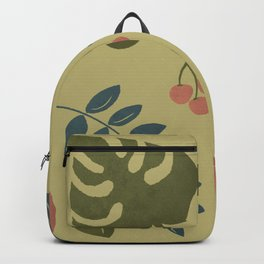 Rainforest Foliage with yellow background Backpack
