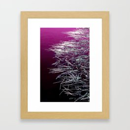 Purple Lake & Silver Reeds Framed Art Print