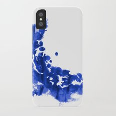 Paint 9 abstract indigo watercolor painting minimal modern canvas affordable dorm college art  iPhone X Slim Case