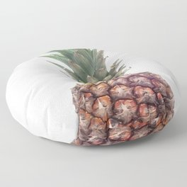 One Big Pineapple - white Background Floor Pillow