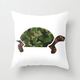 Camou Turtle Throw Pillow