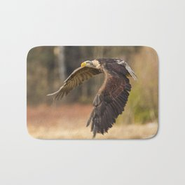 Bald Eagle in Flight Bath Mat
