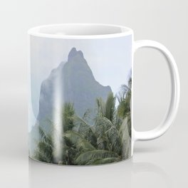 Polynesian Volcano Ruins in Rain Coffee Mug