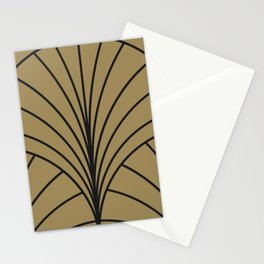 Diamond Series Floral Burst Charcoal on Gold Stationery Cards