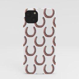 Rusty Horseshoe Polka Dot Pattern iPhone Case