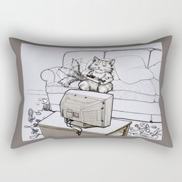 Up Up Down Down Left Right Left Right B A Start -- Greyscale Rectangular Pillow