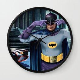 JULIE NEWMAR AND ADAM WEST 1966 Wall Clock