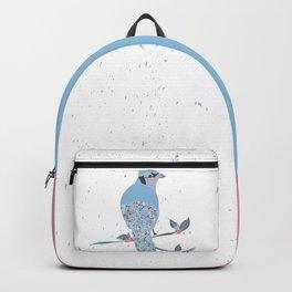 Fancy Blue Bird Backpack