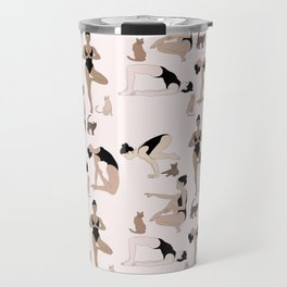 yoga with cats Travel Mug