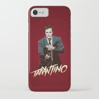 quentin tarantino iPhone & iPod Cases featuring Quentin by CromMorc