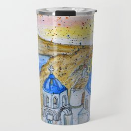 Santorini, Greece Travel Mug