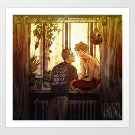 Succulent Sunset Art Print