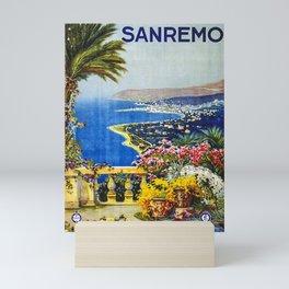 Travel Poster Sanremo Mini Art Print