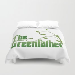 The Greenfather An Earthday Parody Duvet Cover