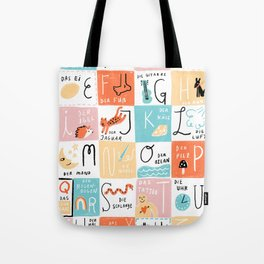 Das Alphabet Tote Bag