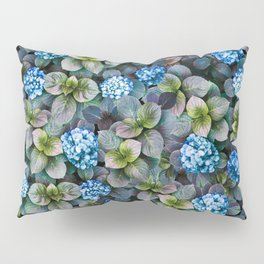 Blue Hydrangeas Floral Pattern Pillow Sham