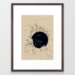 big bear, little bear Framed Art Print