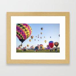 Hot Air Balloon Festival Framed Art Print