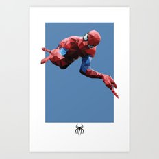 Spider-Man Polygon Mesh Art Print