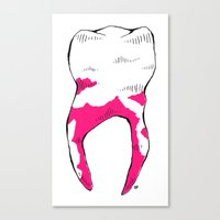 tooth Canvas Prints featuring Tooth by - OP -
