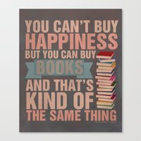 books Canvas Prints featuring Books by thespngames