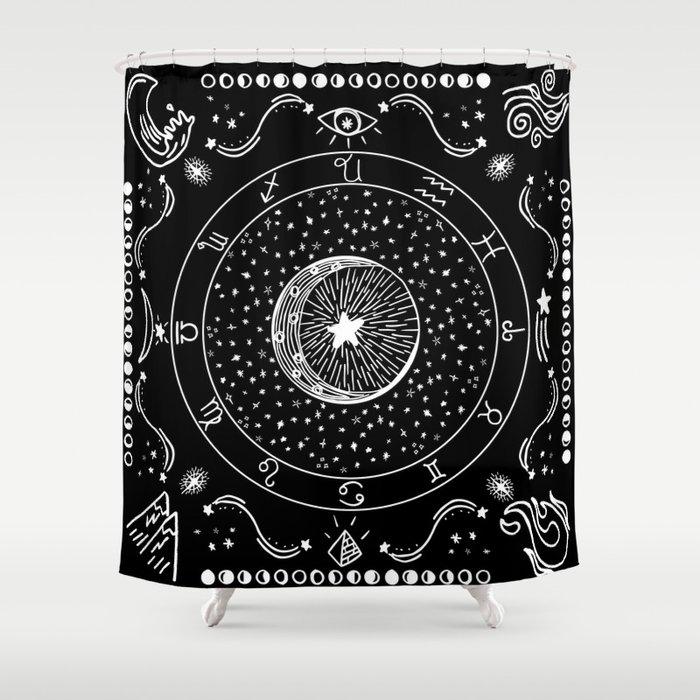 Zodiac Bandana Shower Curtain By Shutupbek
