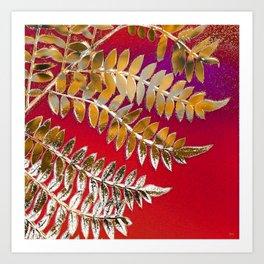 Crimson Daydream Art Print