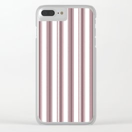 Pale pink, white striped pattern. Clear iPhone Case