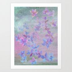 pale pastel garden Art Print