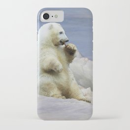 Cute Polar Bear Cub & Arctic Ice iPhone Case