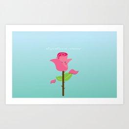 Will you still love me tomorrow Art Print
