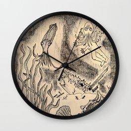 Parchment Sea  Wall Clock