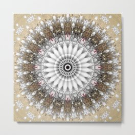 Mandala with an abstract romantic touch Metal Print