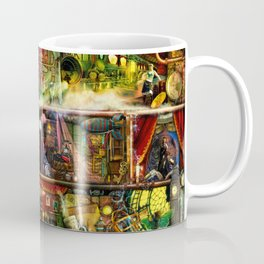 The Fantastic Voyage - a Steampunk Book Shelf Coffee Mug